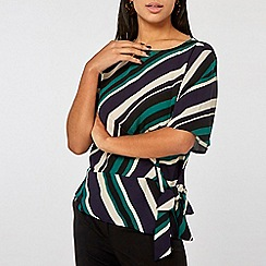 Dorothy Perkins - Stripe Tie Side T-Shirt