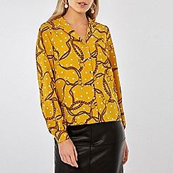 Dorothy Perkins - Ochre spot print shirt