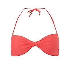 Dorothy Perkins - Orange twist front bandeau bikini top