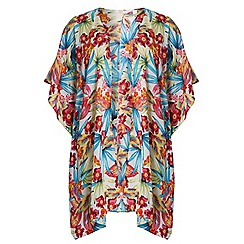 Dorothy Perkins - Ivory floral tropical print kimono