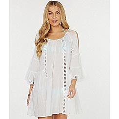 Dorothy Perkins - Beach ivory lace insert detail shift dress