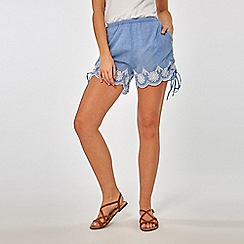 Dorothy Perkins - Navy And White Striped Beach Shorts