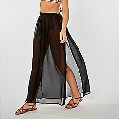 Dorothy Perkins - Black Chiffon Tie Side Skirt