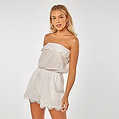 Dorothy Perkins - Beach White Bandeau Playsuit