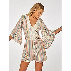 Dorothy Perkins - Beach multi coloured stripe playsuit