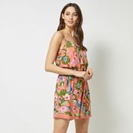 b45c8acde0a7 Dorothy Perkins Chocolate and Orange Tiger Print Wrap Playsuit ...