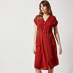 Dorothy Perkins - Rust Linen Shirt Dress