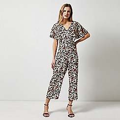 Dorothy Perkins - Multi Colour Leopard Print Cape Jumpsuit