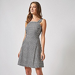 Dorothy Perkins - Black Gingham Tie Strap Fit and Flare Dress