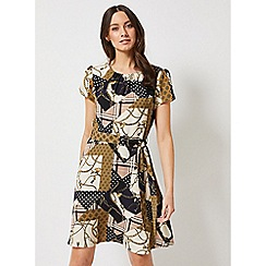 Dorothy Perkins - Multi Coloured Chain Print Fit And Flare Dress