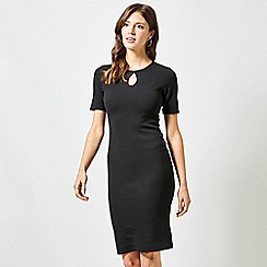 Dorothy Perkins - Black Split Neck Bodycon Dress
