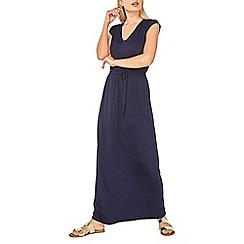 Dorothy Perkins - Navy crochet back maxi dress