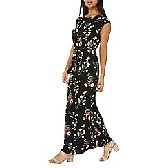 Dorothy Perkins - Black floral jersey maxi dress