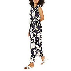 Dorothy Perkins - Navy lily print tassel maxi dress