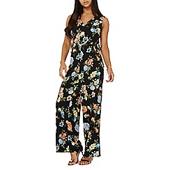 Dorothy Perkins - Black floral v-neck jumpsuit