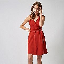 Dorothy Perkins - Amber sleevesless Horn Wrap Dress