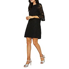 Dorothy Perkins - Black lace trim detail shift dress