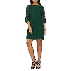 Dorothy Perkins - Green lace trim detail shift dress