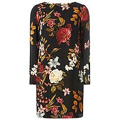 Dorothy Perkins - Black floral print shift dress