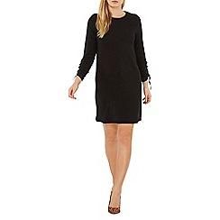 Dorothy Perkins - Black ruched sleeve shift dress