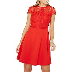 Dorothy Perkins - Red lace skater dress