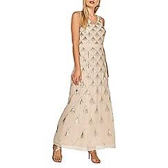 Dorothy Perkins - Blush chevron embellished maxi dress
