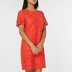 Dorothy Perkins - Orange lace shift dress