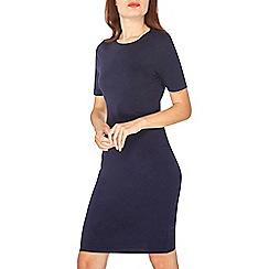 Dorothy Perkins - Navy cotton bodycon dress