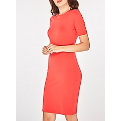 Dorothy Perkins - Red cotton bodycon dress