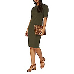 Dorothy Perkins - Khaki textured pencil dress