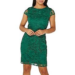 Dorothy Perkins - Green crochet lace pencil dress