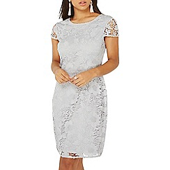 Dorothy Perkins - Grey lace pencil dress