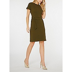 Dorothy Perkins - Olive d-ring pencil dress