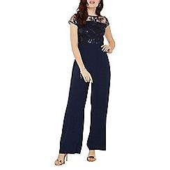 Dorothy Perkins - Navy sequin top jumpsuit