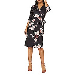 Dorothy Perkins - Black floral wrap dress