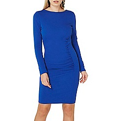 Dorothy Perkins - Blue scoop back bodycon dress