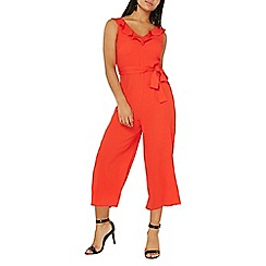 Dorothy Perkins - Red ruffle strap culottes jumpsuit