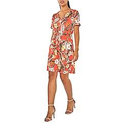 Dorothy Perkins - Blush floral print t-shirt dress