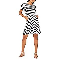 Dorothy Perkins - Ivory striped t-shirt skater dress