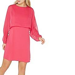 Dorothy Perkins - Pink chiffon overlay shift dress