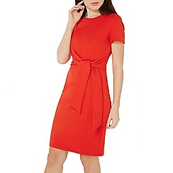 Dorothy Perkins - Coral tie front pencil dress