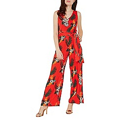 Dorothy Perkins - Red tropical print wide leg jumpsuit