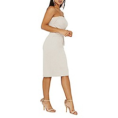 Dorothy Perkins - White tie front bandeau bodycon dress