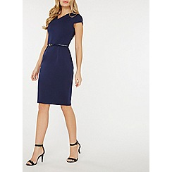 Dorothy Perkins - Navy scuba pencil dress