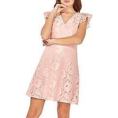 Dorothy Perkins - Blush lace ruffle midi skater dress