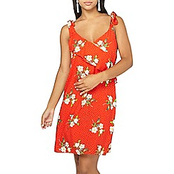 Dorothy Perkins - Red ruffled floral print sundress