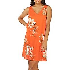 Dorothy Perkins - Orange foil shift dress