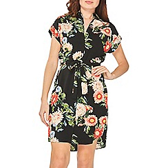 Dorothy Perkins - Black floral print shirt dress