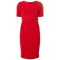Dorothy Perkins - Red hardware detail sleeves bodycon dress
