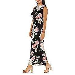 Dorothy Perkins - Black floral print sleeveless maxi dress